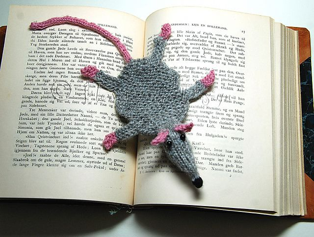 Ravelry: Project Gallery for Squashed Rat Knitted Bookmark pattern by Amalia Samios