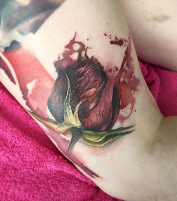 967 best tattoo roses images on pinterest tattoo for Meaningful thigh tattoos