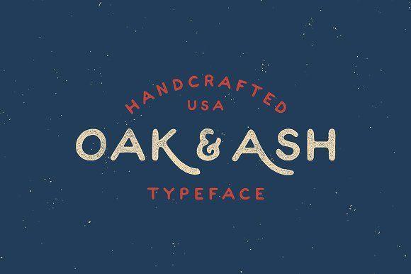 Oak & Ash - Hand Drawn Font by James Lafuente on @creativemarket