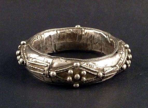 Tuareg silver bracelet tribal bracelet tuareg by ethnicadornment