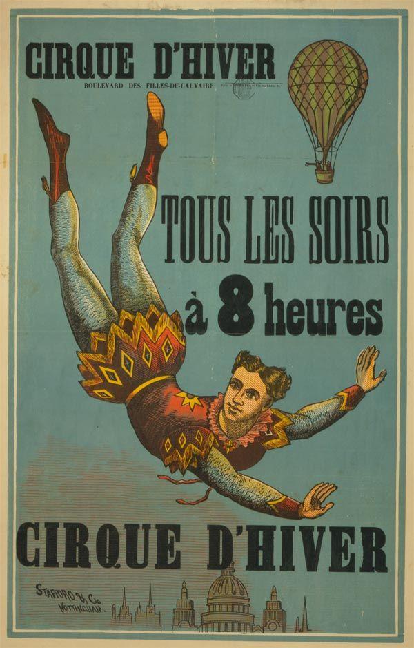 Cartaz de circo entre 1880 e 1900