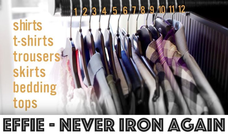 Effie can iron your clothes by contacting them and pressing the creases out. This emulates the steam ironing process. Effie can take up to 12 items at once. Simply hang all of your garments up on the exposed rail, and after clicking go, sit back ...