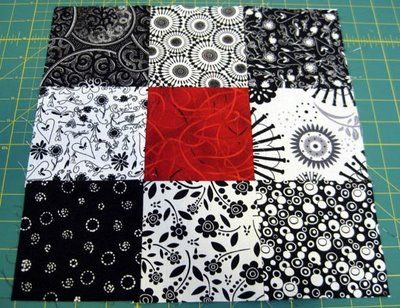 Disappearing nine patch #quilt. Simple nine patch into fabulous design.
