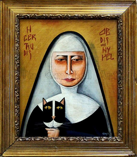 Saint Gertrude. Patron Saint of Cats. By Tim by TimCampbellArt