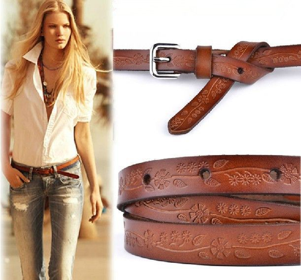 Item Type: Belts Belt Width: 1.5 cm Pattern Type: Floral Department Name: Adult Style: Fashion Gender: Women Belts Material: Pigskin Buckle Width: 2.5 cm Model Number: FQ10926C Belts Size: One Size Be