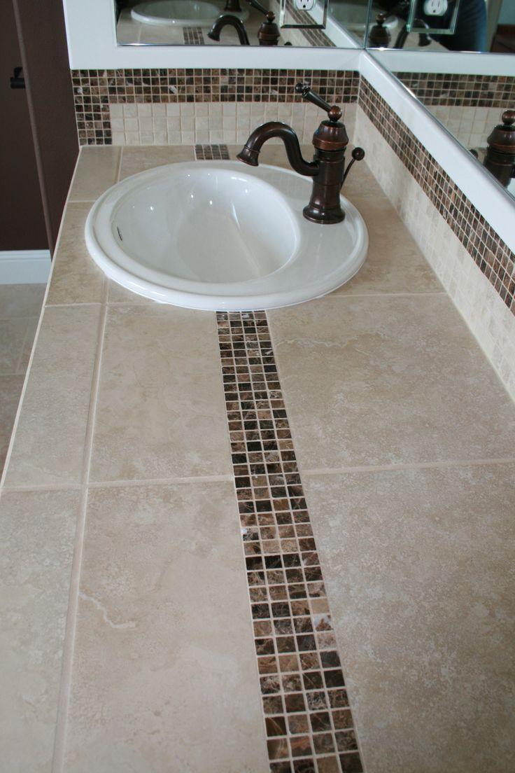 Bathroom Miraculous 27 Best Tile Countertops Images On Pinterest Tile Countertops Of Bathroom Bathroom Countertops Tiled Countertop Bathroom Tile Countertops