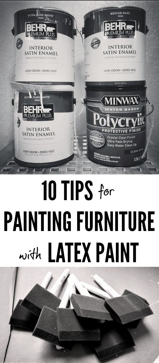 10 TIPS FOR PAINTING FURNITURE WITH LATEX PAINT | My husband and I have painted many a furniture piece using latex paint, though none as challenging as the Roll-Top Desk. Having conquered this one, though, I thought it might be useful to share some of our tips and tricks for working with this fantastic medium. Here are 10 tips to painting furniture with latex paint.