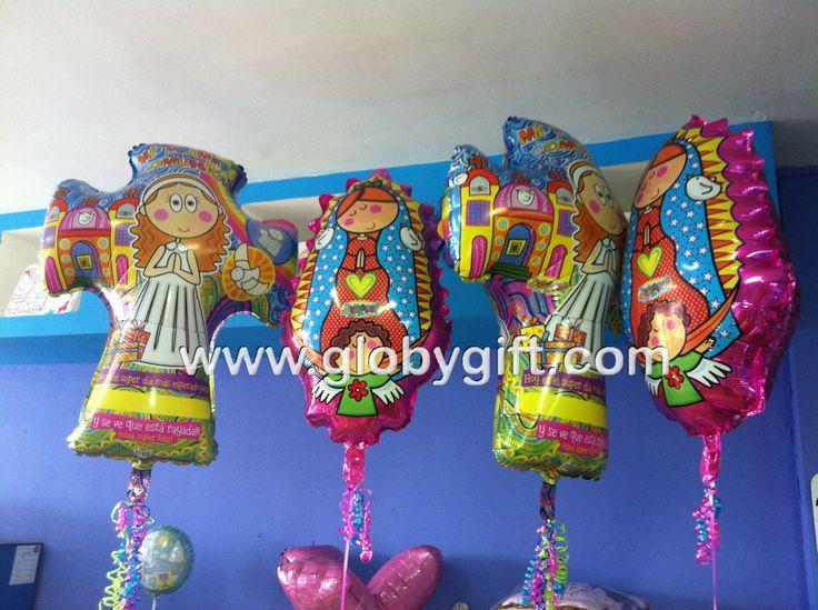 Decoracion Primera Comunion Virgen De Guadalupe ~ Globos para primera comuni?n, Virgencita de Distroller