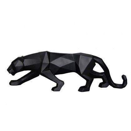 Decorative Geometric Figure Panther Black/Resin/Wollastonite(19*4*6)4/Box