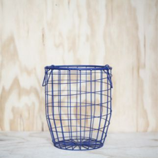 Down to the Woods Wire Basket Small - Midnight The uses are endless. Decorative, practical, fill them or even turn them upside down. Small is bench or desk size so use it to display or store your favourite things! INSTORE + ONLINE NOW