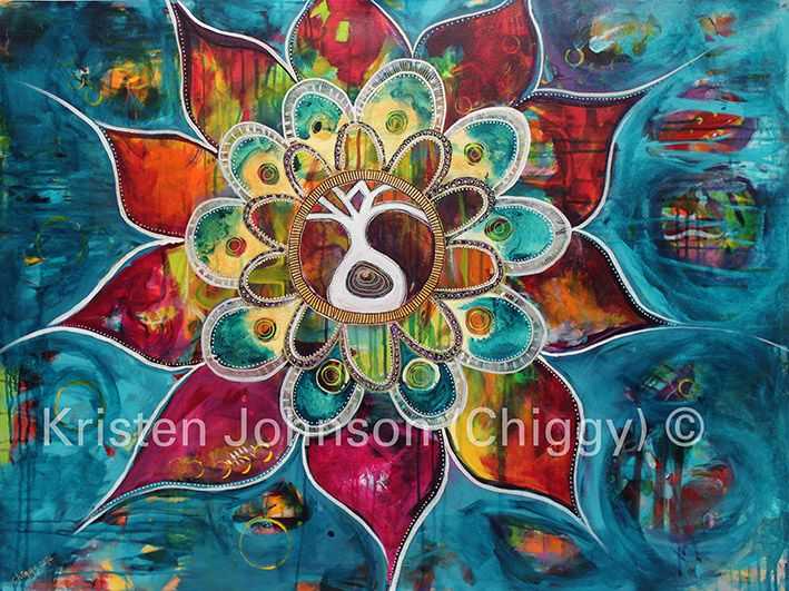 Mandala of Morals. This painting was a feature in my latest exhibition in South Australia