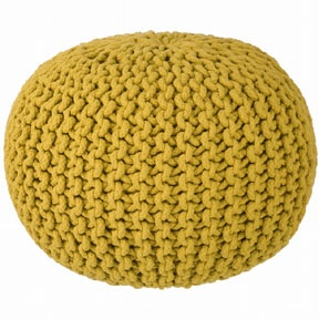 ferm living knitted pouf