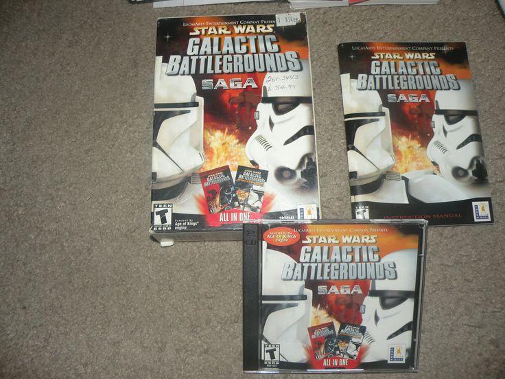 Star Wars: Galactic Battlegrounds Saga (PC, 2002) Complete