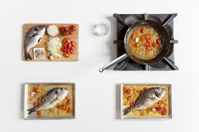Orata al forno con pomodorini :http://www.laboratoriocingoli.it/orata-al-forno-con-pomodorini/