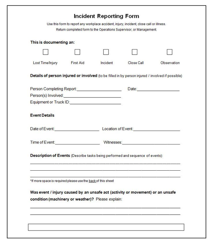 Incident Report Samples Incident Report Template Click Here For A