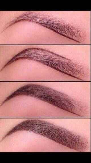 Line your eyebrows then fill in with a powder for a naturel look