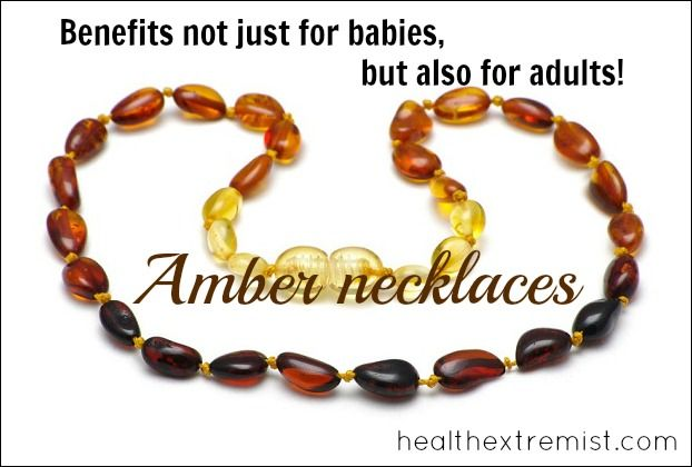 Amber Necklace Benefits -Not just for babies! They can help reduce arthritis, eczema, and treat thyroid conditions. #amber #ambernecklacebenefits