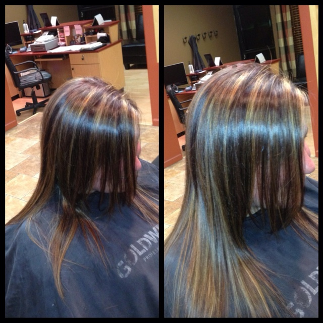 Dark Natural Level 5 Level 3 Gold Base With A Hint Of Red Violet