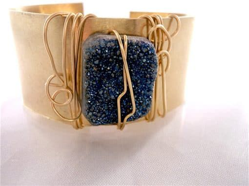 Jewelry Making Kit -Brass Cuff Bracelet With Druzy Bead And Wire Art $47.00 This Druzy Dream brass cuff bracelet jewelry making kit will have you druzy dreaming.  Learn wire art techniques that will have you wanting to do more brass cuff bracelets!