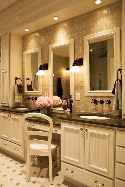 Double Sink Bathroom Floor Plans 183 best bathroom design ideas images on pinterest | bathroom tile
