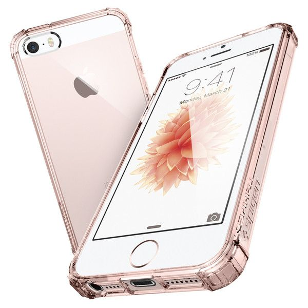 Defend your iPhone SE with Spigen's Crystal Shell™ Case! This hard and durable case for the newest iPhone has a clear back to appreciate the original design and shape of the device. Its round edges and reinforced corners add extra protection from drops and bumps for minimum impact.  Shop Now: http://www.spigen.com/products/iphone-se-case-crystal-shell?variant=16838049217