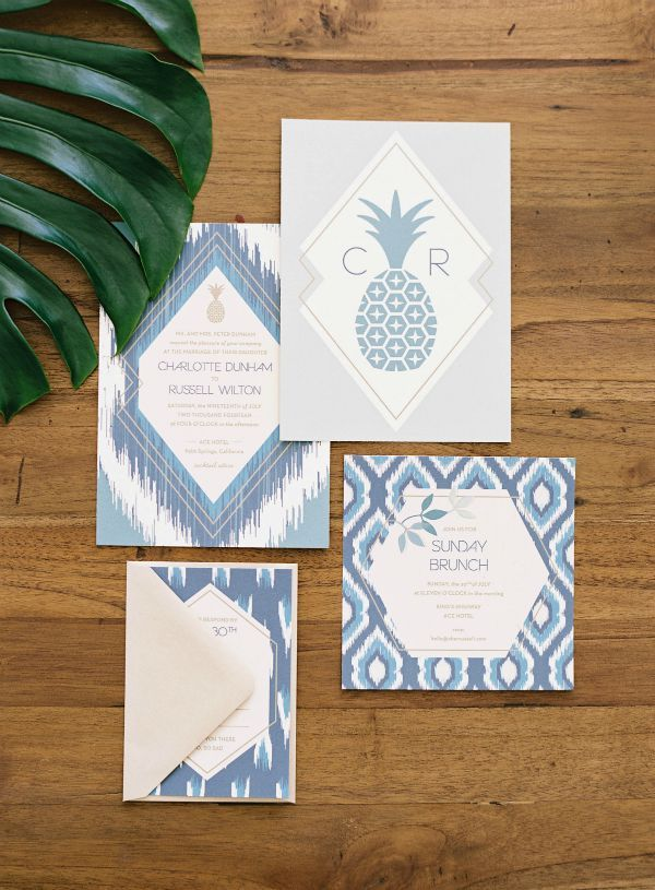 beach wedding invitation examples%0A Bohemian Tropical Wedding Invitation Suite by Papermade Designs