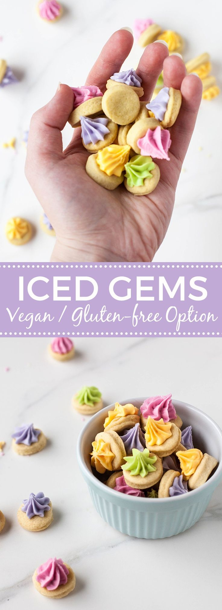Iced gems! Vegan with gluten-free option.
