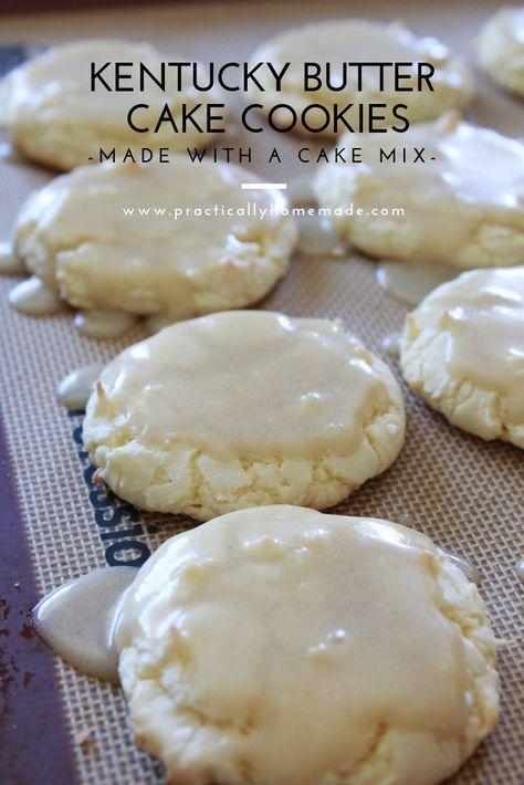 Kentucky Butter Cake Cookies haben die perfekte Größe für solch ein dekadentes Dessert. M …
