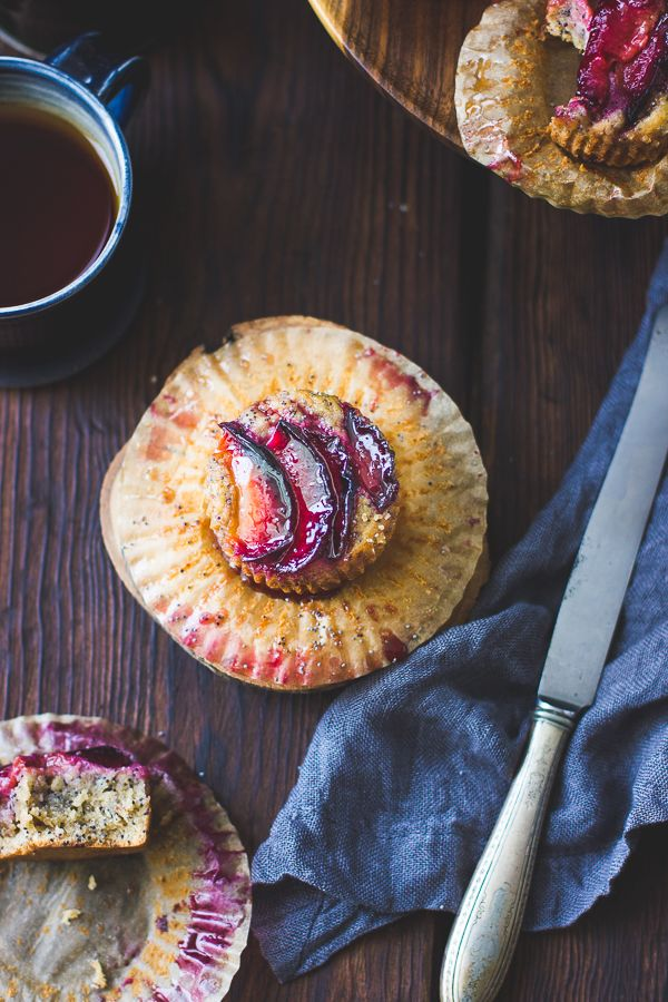 Poppy Seed Pluot Financiers {Gluten-Free} | Desayuna con nosotros | Pinterest | Gluten free, Gluten and Desserts
