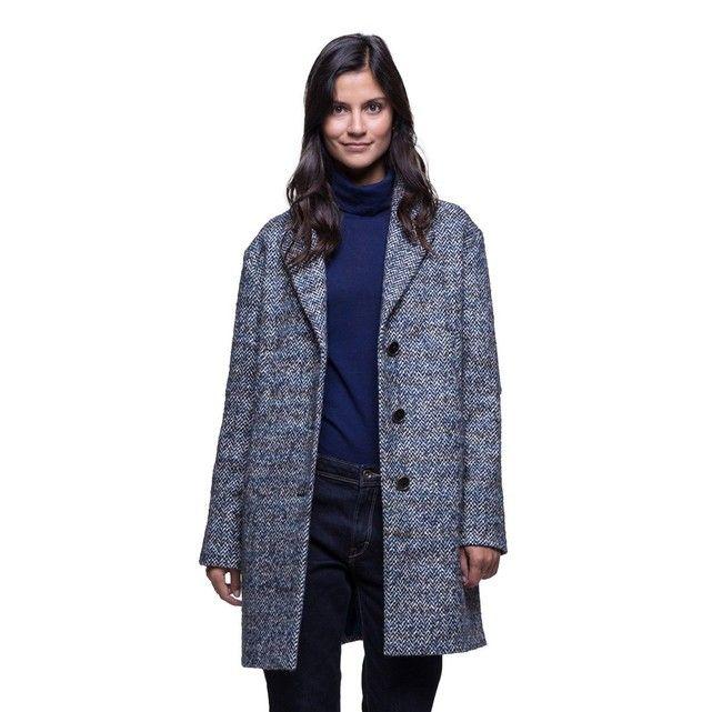 Manteau en tweed de laine et alpaga   Trench-coats, En biais et Manteau bfcd4440e720