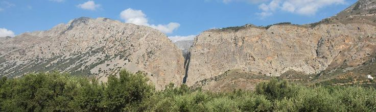 We are in the east end of Crete, on the west side of Mountain Tripiti. Ha Gorge extends from Tripiti Village..