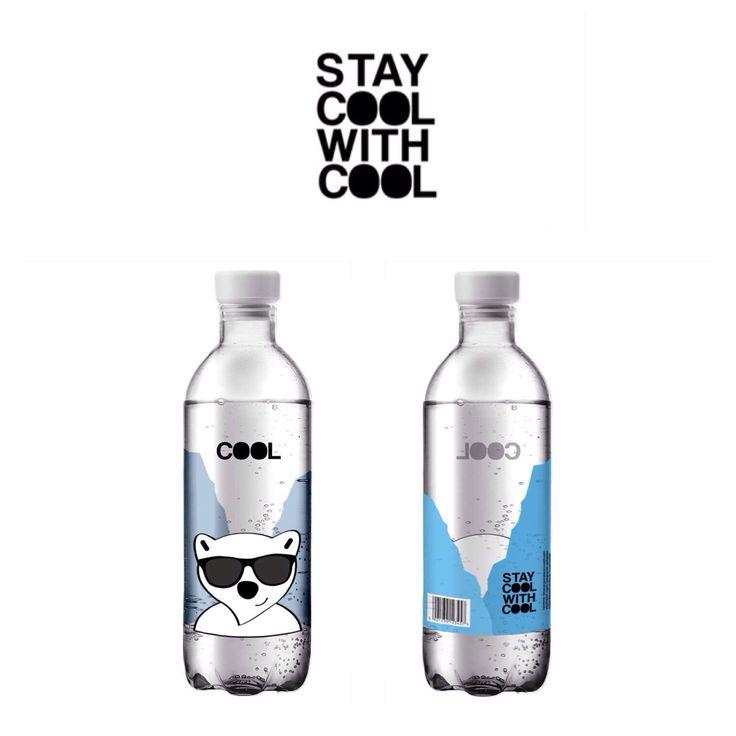 COOL | Mineral Water Bottle | Bottle Label | Packaging | Labels