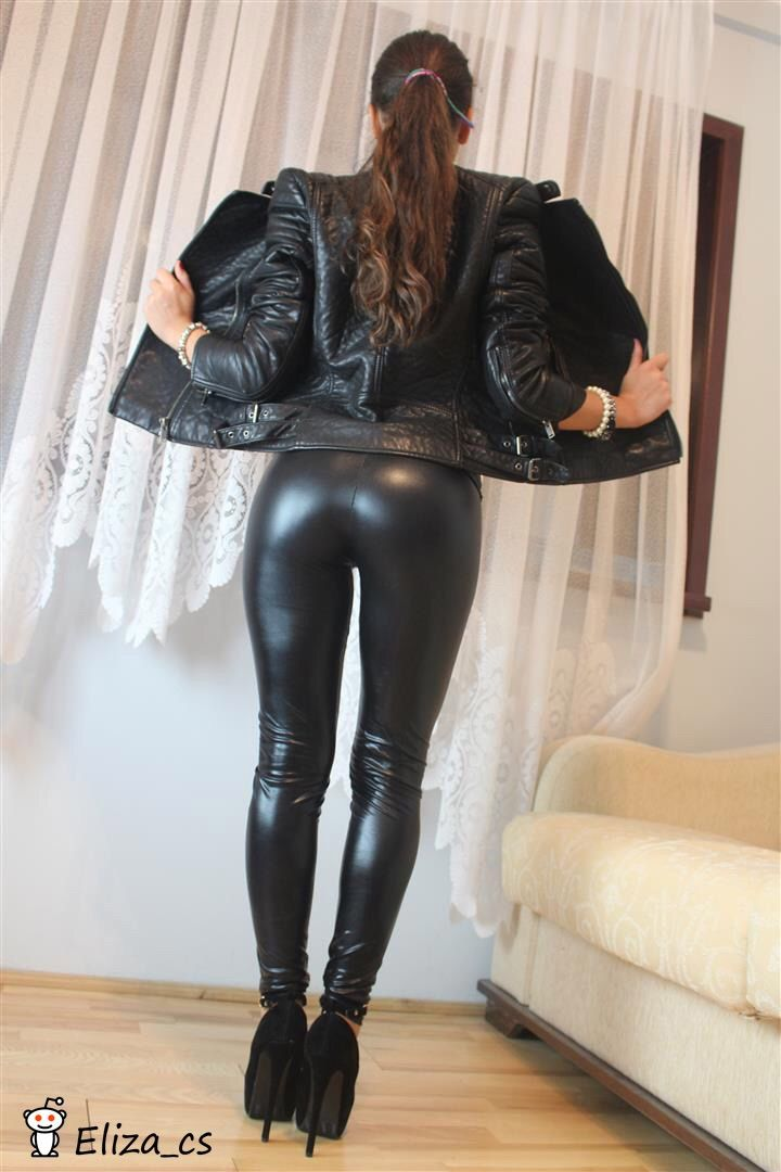 riding dildo latex tights