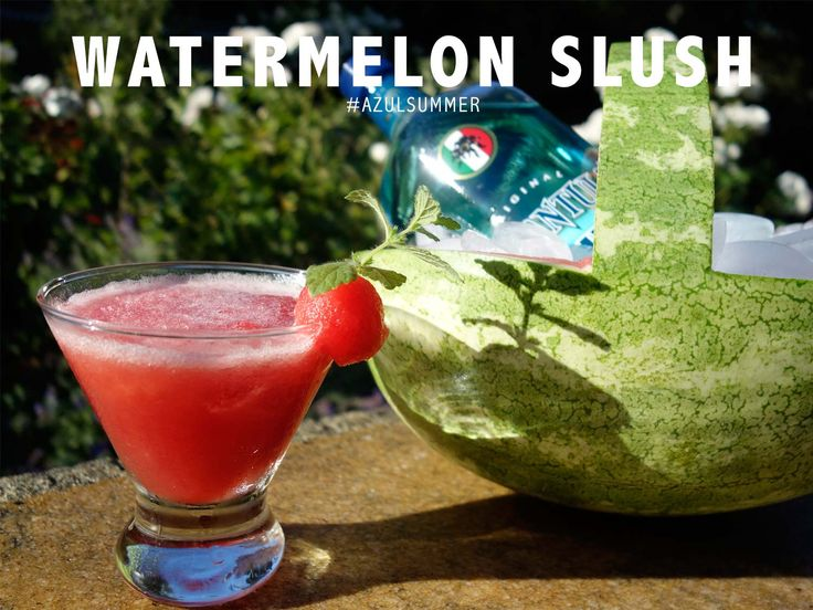Tarantula Watermelon Slush 1/4 cup Tarantula Azul 5 ounces watermelon ice 1/2 lime salt  In a blender combine Tarantula Azul, watermelon and ice. Pour in glass. Add lime juice as needed and a pinch of salt. Garnish.