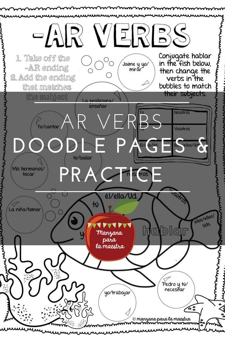Engage Your Students With These Ar Verb Doodle Notes For The Beginner Spanish Classroom With Speaking An Learning Spanish Doodle Pages Beginner Spanish Lessons [ 1102 x 735 Pixel ]