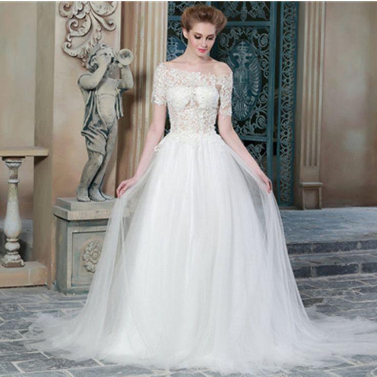 Simple And Elegant Wedding Dresses Boat Neck Three Quarter: 17 Best Ideas About Boat Neck Wedding Dress On Pinterest