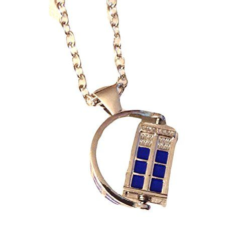 """Doctor Who TV SPINNING 3D TARDIS Police Box Pendant NECKLACE w/ 30"""" Chain Buddy's Memorabilia 13 http://www.amazon.com/dp/B00QKX2LC6/ref=cm_sw_r_pi_dp_A0revb11GFB5V"""