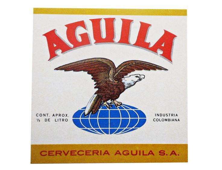 1967 ETIQUETAS DE CERVEZA COLOMBIANA: ÁGUILA