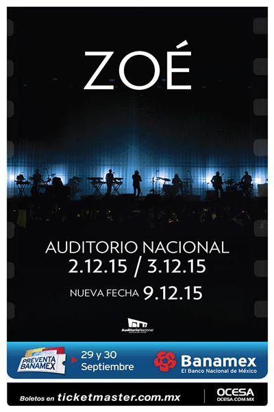 Zoé, Auditorio Nacional