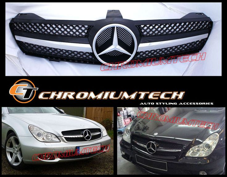 Mercedes Cls Class W219 Black Chrome Grill New Sl Look Amg