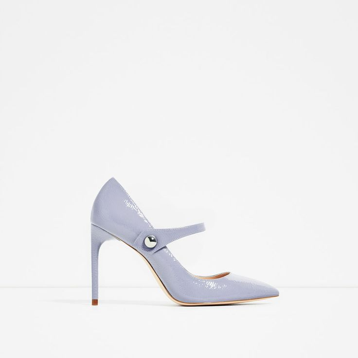 ZARA - COLLECTION SS/17 - PATENT FINISH HIGH HEEL SHOES WITH STRAP