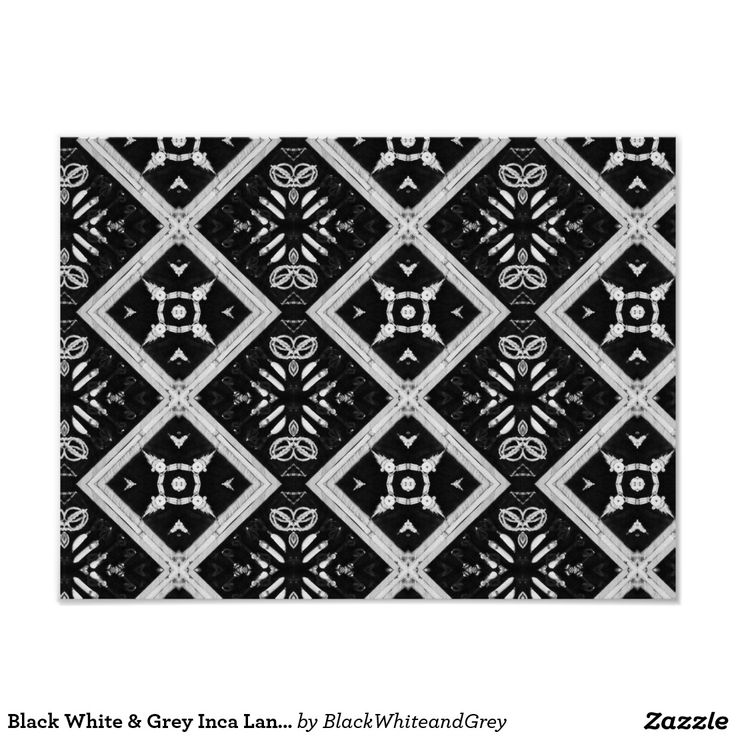 Black White & Grey Inca Land Poster Paper (Matte)