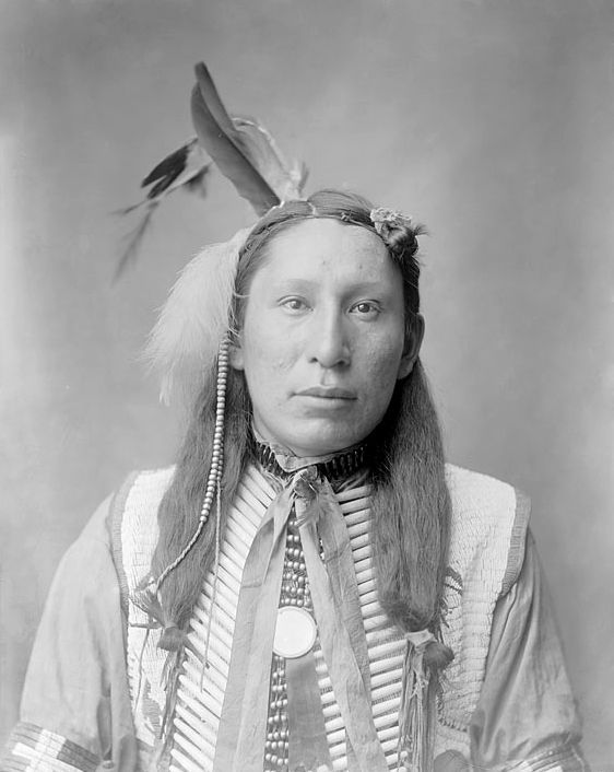 An old photograph of Jim Red Cloud, Grandson of Red Cloud - Oglala 1904.