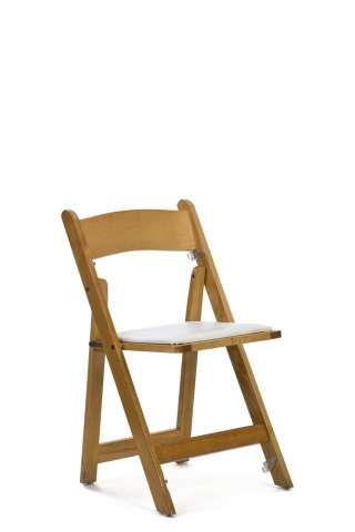 Natural Wood Folding Chairs - $4.25 each