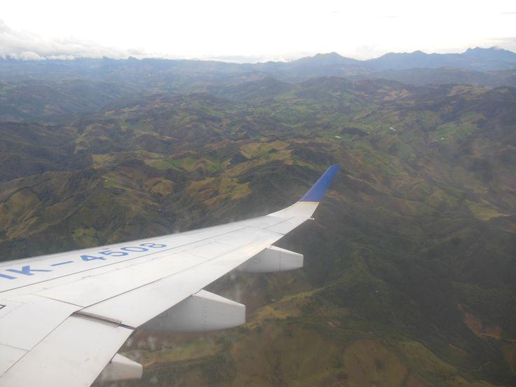 Montañas llegando a Medellin