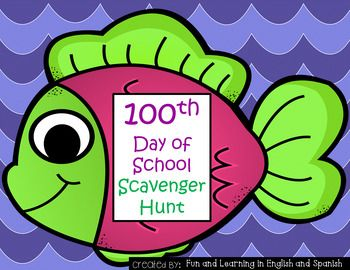 100th Day of School - Scavenger HuntMy kids LOVE this DIFFERENTIATED 100th day of school activity year after year!  Directions are below and are included in the packet as well:1. Print the fish (I suggest that you laminate them so that you can reuse them each year)2.