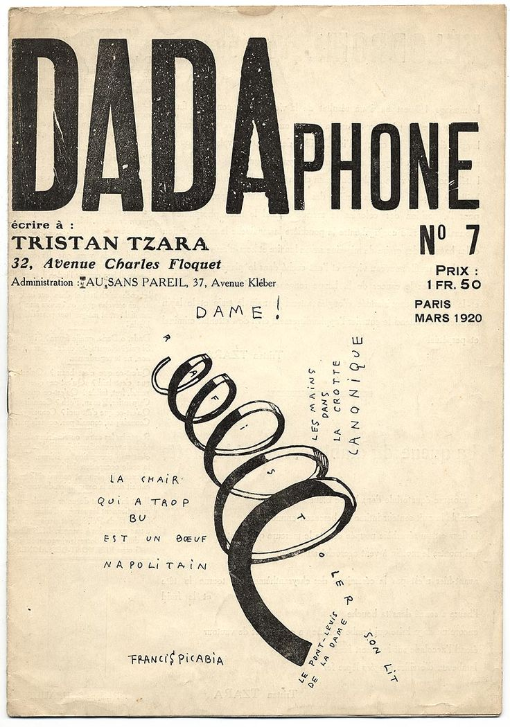 Cover of Tristan Tzara's Dadaist journal, Paris, 1920