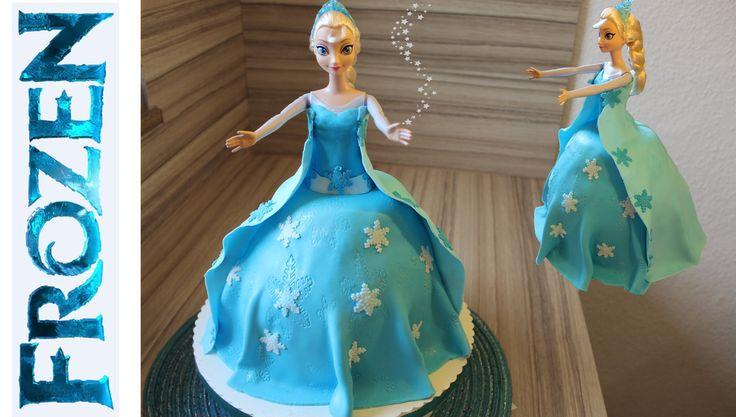 Elsa die Eiskönigin Torte Fondant selber machen Anleitung Deutsch