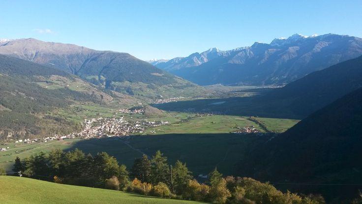 Die wunderschöne Aussicht von der Panoramaterrasse im Alpin & Relax Hotel DAS GERSTL