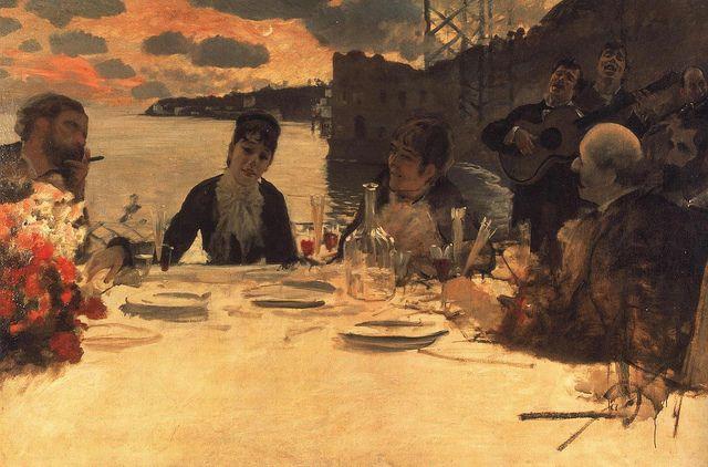 #GiuseppedeNittis - #Pranzo a #Posillipo  1879 a Milano